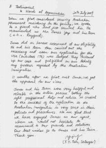 Rayford testimonial